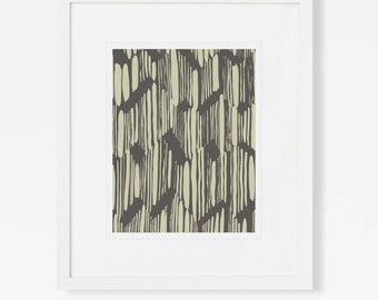 Mid Century Modern Artwork - Abstract Art Print - Graphic Wall Art - 5x7, 8x10, 11x14 - Vertical - Unique Home Decor - Art For Office