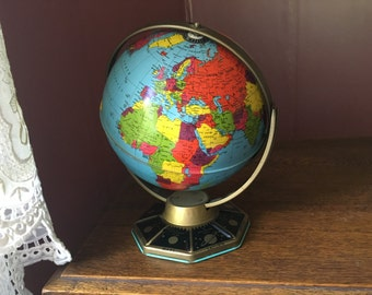 Vintage J. Chein & Co. Tin Globe With Planets