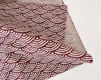 Japanese Wave Fabric, Japanese Pattern, Japanese Kimono Fabric - Red