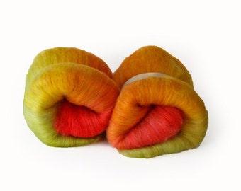 Zinnias Merino Wool Batt- 3.7 oz