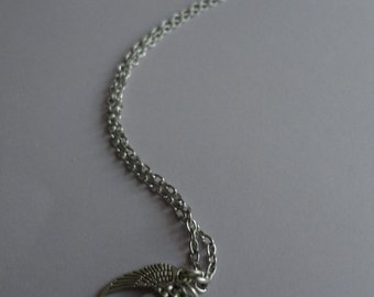 June Birthstone Guardian Angel Necklace - Style 3 - For a loved one, a friend, yourself - Keepsake