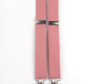 Rose suspenders, rose gold suspenders, rose wedding, rose braces, rose pink suspenders, boys pink suspenders, men's suspenders, boys braces