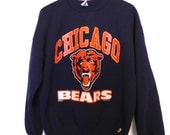 1990s Chicago Bears Sweatshirt Footbal Russell Athletic XL Mens Logo Sweater