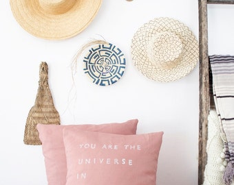 YOU ARE the UNIVERSE // Linen Quote Pillow // Modern Heirloom