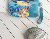 Mermaid, Sea Sirens, Nerd, Geek, Purse, Bag, Wristlet, Handbag, Pouch, Clutch, Zipper Pouch