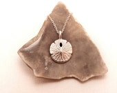 Tiny Silver Sand Dollar Necklace