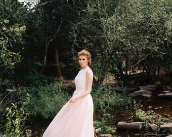 "Wedding Separates - Florence Skirt 20"" Train - Wedding Skirt - Colored Wedding Dress - Chiffon Skirt"