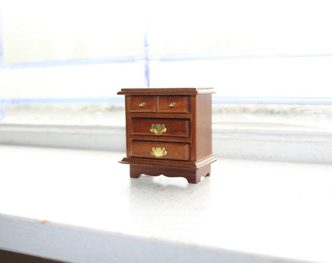 Dollhouse Furniture Wood Dresser Vintage Mohogany Miniature