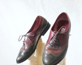 Vintage Multi Leather Wing Tips Sz 7
