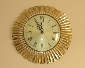 Metamec Starburst - 1980's Wall Clock - Original Movement