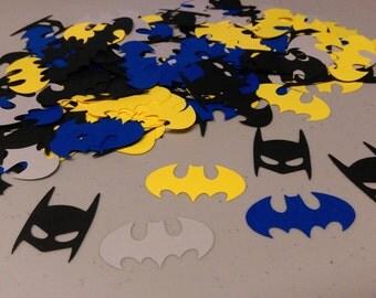 Batman Confetti, Birthday Party Confetti, Table Confetti for Batman Batgirl Birthday Party, Baby Shower