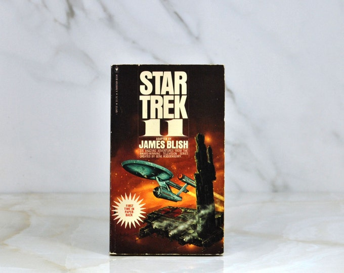 Vintage Star Trek 11 By James Blish 1975 Six Amazing Adventures From The Award WInning Television Series -  Paperback - Kirk - Spock