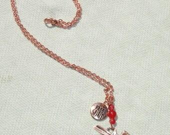 """Artist Pallet """"Free Spirit"""" Copper Necklace with Gemstones"""