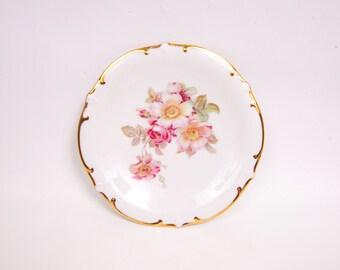 Vintage Schumann Arzberg Bavarian Wild Rose Plate Golden Crown Germany