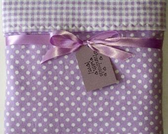 Flannel baby blanket- receiving blanket girl- baby girl- crib blanket- new baby gift- polka dot- cotton blanket- purple -custom baby blanket