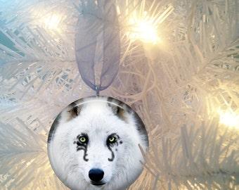 Wolf #15 Christmas Tree Ornament