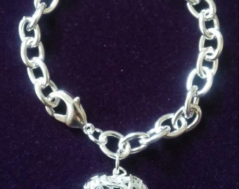 Gorgeous Filigree Heart Bracelet Sterling Silver Bracelet