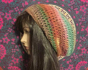slouch beanie, READY TO SHIP, crochet beanie, Strawberry Fields Slouch Beanie, slouch hat, slouchy hat, womens slouch hat, slouchy beanie