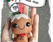 GINGERBREAD MAN PDF pattern - Gingerbread man - Christmas decoration, Christmas ornament, sewing pattern
