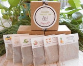VARIETY TEA Organic Sample Gift Box / Holiday Edition /Eco Tea Bag Add On Option/ Under 10 Dollars / Secret Santa /Stocking Stuffer