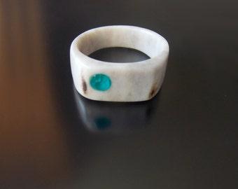 Antler Wedding band, Deer Antler Ring, Mens Wedding Ring, Mens Jewelry, Unisex Antler Jewelry, Eco Friendly, Natural, Handmade by MariyaArts
