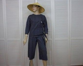 Vintage Asian Farmer Peasant Costume Authentic