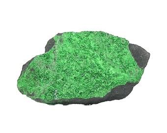 Green Uvarovite Sparkling Gem Garnet Crystal Druzy Semiprecious Stone, Geological Mineral Specimen, Geo Gemstone Russian Ural Montanans