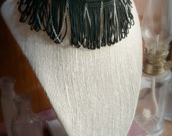 Fringe and Chain Necklace/Choker