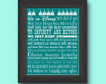 Disney Class Rules 11 by 14 Typography Print