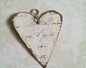 Handmade Hand Painted Metal Heart Charm/Pendant