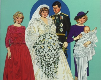 Paper Dolls  Princess Diana and Prince Charles Fashion Paper Dolls in Full Color