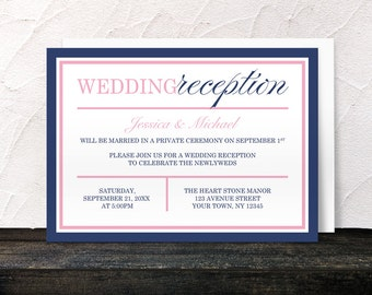 items similar to wedding reception only invitations on etsy, Wedding invitations
