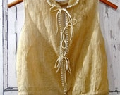 Antique Women's Blouse Clothing Tulle Netting / Tons of Tiny Pleats and Buttons - Repairs Needed Historical Early Century Fashions Museum