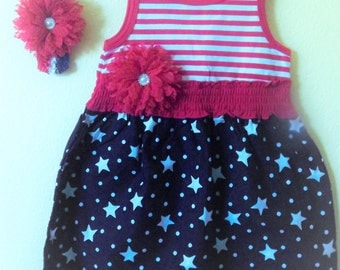 4th of July Dress and Head band