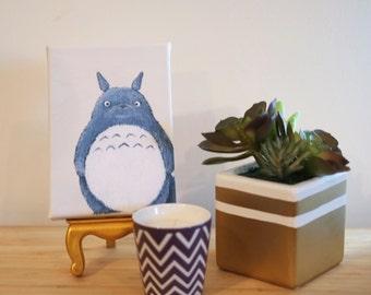 Mini Canvas of Totoro from My Neighbour Totoro Studio Ghibli