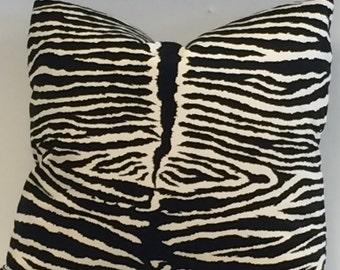 HIGH END Designer ULTRASUEDE Zebra  Pillow Cover