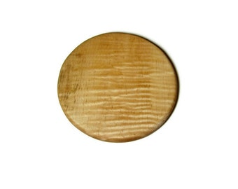Tiger Maple Round, Maple Cutting Board, Wood Cutting Board, Hot Plate, Trivet, Hostess Gift,