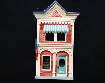 Hallmark Ornaments 1989 Hallmark Christmas Ornaments Nostalgic Houses US POST OFFICE Miniature House