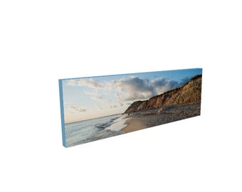 Beach Photography, Aquinnah Moshup Beach Gay Head Cliffs Martha's Vineyard, Canvas Print, Wall DecorArt, Gift for wife, husband, Man Cave