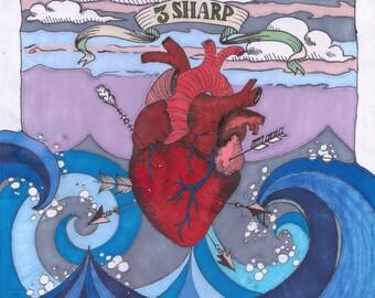 Three Sharp Poster by Mara Wake