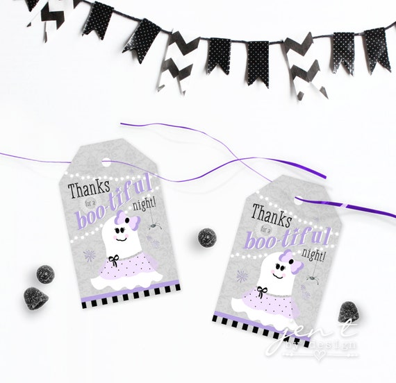 Bootiful Ball Halloween Favor Tags - Ghost Favor Tags by Jen T by Design