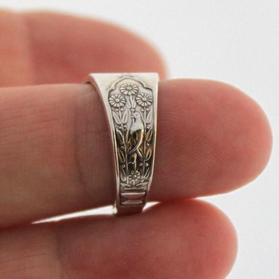 spoon ring antique silverware ring silverware jewelry unique