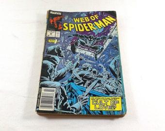 MARVEL COMICS Web of Spiderman Vol. 1 No. 40 July 1988