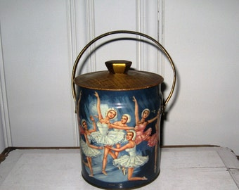 Vintage Biscuit Tin from Murray-Allen Montreal Canada, Ballerina Biscuit Tin Made In England - New Rochelle, NY Murray-Allen Imported Tin