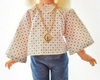 Vintage 1970 Ideal Velvet Doll, Hair Growing Family Of Dolls, Violet Blue Eyes, Blonde Hair, Handmade Boho Outfit, Ideal Violet Shoes, Hippy