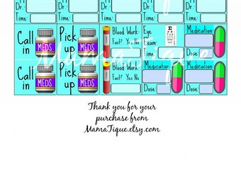 Spoonie planner spoons injection tracker medication tracker planner stickers printable stickers happy planner spoonie stickers appointment