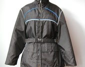 Black Snowmobile Jacket /...