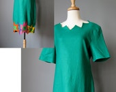 SALE ! Green Linen Dress ...
