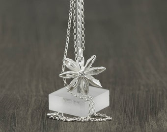 ANISE STAR | Necklace handcrafted of Sterling Silver (Free Shipping)