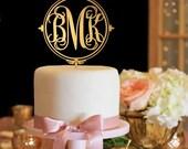 Monogram Wedding Cake Topper - Gold Cake Topper